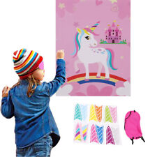 Pin The Horn On The Unicorn Kids Birthday Party Favors Home Game Supplies Jian