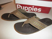NIB $69 Mens Hush Puppies Leather Sandal Shoes Toe post Sandals