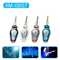 WIRELESS ELECTRIC GUITAR LEAD 6.35mm JACK PLUG 2.4G AUDIO TRANSMITTER & RECEIVER