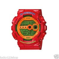 GD-100HC-4 Casio Watch Red G-Shock 200M WR Analog Digital X-Large Resin