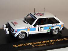 Talbot Rallye Monte Carlo 1981, 1:43 - IXO