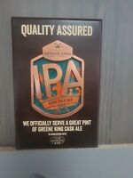 IPA WOODEN AND METAL PLAQUE SERVE A GREAT PINT PUB HOME BAR MANCAVE XMAS