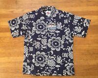 Nwt Duke Kahanamoku Champion Japan Duke's Floral Flower Cotton Hawaiian Shirt L