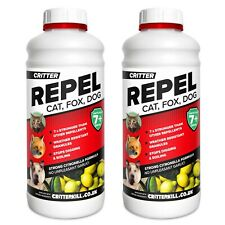 Critter Repel CAT DOG FOX REPELLENT Animal Garden Repeller Professional Strength