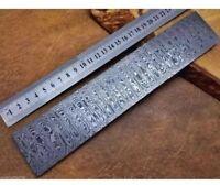 Damascus Steel Billet Knife Maker Bar  25 cm Long , 5 cm Wider And 5  mm Thick