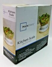 MAINSTAYS WHITE KITCHEN SCALE WEIGHS UP TO 7lbs. w/REMOVABLE BOWL BRAND NEW