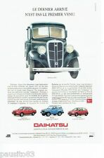 PUBLICITE ADVERTISING 126  1992  Daihatsu   Applause Feroza Charade