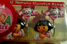Dora the Explorer Boots the Monkey Shower Curtain Rings Hooks Set of 12 2004