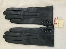 Ladies Dents leather gloves black size S
