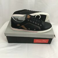 Marco Vitale Collezione 41006 Black Mens Shoes 9.5 Sneakers Casual Lace Up