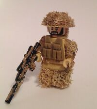 Lego ww2 Modern Combat Army Custom Ghillie Suit (v3 Tan) Made With Real Lego(r)