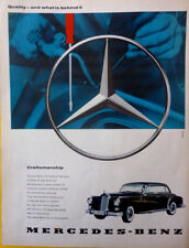 """Mercedes Benz w112 """"Quality and what is behind it"""" original advertising 1960"""
