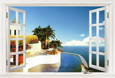 Huge Window Sea View Wall Stickers Mural Wallpaper Home Decor Art Decals Picture