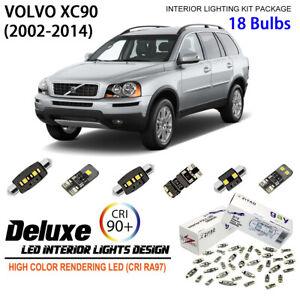 18 Bulbs Deluxe LED Interior Dome Light Kit Xenon White for 2002-2014 Volvo XC90