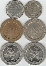Lot of 6 Casino Chips Tokens Half Dollar .50 and Twenty Five Cent .25