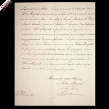 King William III Netherlands Signed Document Military Manuscript HAGUE Letter