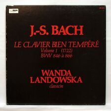 WANDA LANDOWSKA - JS BACH well-tempered clavier book 1 RCA 2xLPs box EX++