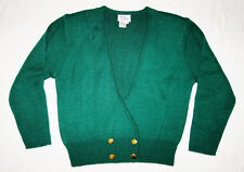 Womens Hastings & Smith Green Cardigan Sweater Size Medium w/ Waist Detail
