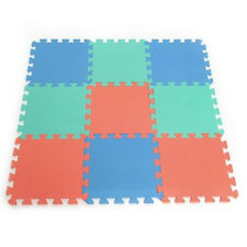 10pcs Interlocking Puzzle Floor Foam Gym Mats Thick Squares Tile Child Play Pads