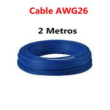 2 Metros Cable Azul PVC Flexible 26AWG Nucleo Alambre Cobre