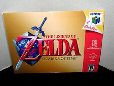 "Nintendo 64 N64 Zelda Ocarina Time  Box Cover  8.5""x11""  Game Wall Poster Decor"
