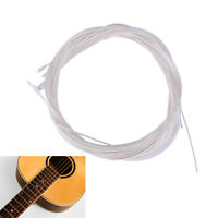 6X 1M Guitar Strings Nylon Silver Plating Set Super Light for Acoustic Guitar FO
