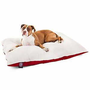 36x48 Red Rectangle Pet Dog Bed By Majestic Pet Products Large