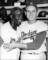 Jackie Robinson & Gil Hodges Photo 8X10 Dodgers 1956