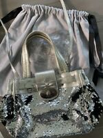 Brighton by appointment to My Flat In London Silver Sequin Bag Purse Crossbody