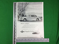 Riley 2.5 litre 100hp larger format advert from 1950 saloon car