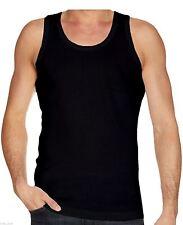 Mens Multi Pack Lot Basic Regular Fit 100 Cotton Vest Tank Top S-xxl Black 2xl 3