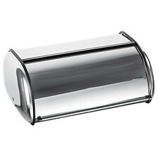 Stainless Steel Bread Box Storage Bin Vintage Roll Holder Food Container Kitchen