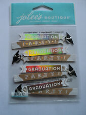 EK SUCCESS JOLEE'S BOUTIQUE Graduation Party Repeat Autocollants Entièrement neuf sous emballage