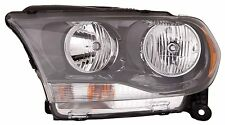 2011-2012 Dodge Durango Passenger Side Halogen Headlight Assembly Black Bezel