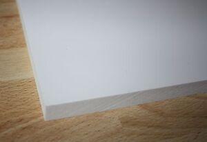 1 PVC Hartschaumplatte Kunststoffplatte  weiß 1000x500x15mm
