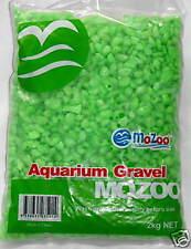 NEW 2KG MOZOO GREEN AQUARIUM & TERRARIUM  & TANK GRAVEL