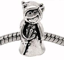 Devil Pitch Fork Evil Halloween Bead for Silver European Style Charm Bracelets