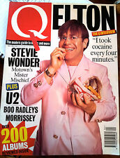 Q Magazine April 1995 Elton John, Morrissey, U2, Slash, Stevie Wonder, East 17