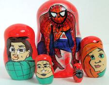 5pcs Hand Painted Russian Nesting Doll of Spiderman Medium