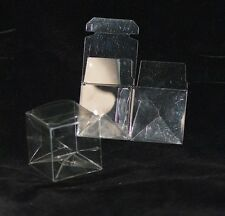 Wedding Bridal Bomboniere - 30 pcs Clear Folding Boxes - 50mm x 50mm x 50mm