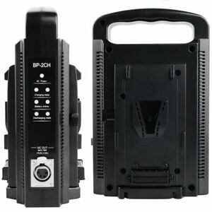V-Lock V-mount Charger Dual Slot Dual Channel Quick Charging For V-lock Battery