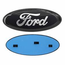 "2004-2016 Ford 9"" x 3.5"" BLACK OVAL CHROME LOGO Emblem Fits: Grille & Tailgate"