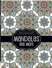 ADULT COLOURING BOOK KALEIDOSCOPE MANDALAS AND MORE 48 PAGES A4 SIZE