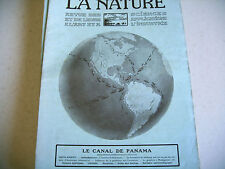 revue LA NATURE science industrie n° 2116 - 1913 canal panama madagascar etc