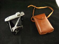 Old Kodak Eastman Tourist Folding Camera 620 Film and Leather Case