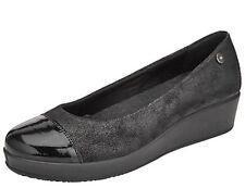 John Lewis Herero Ladies Black Flat Shoes Size Uk5
