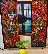 Ombre Mandala Indischen Vorhang Hippie Wand Hängende Tür Fenster Große Vorhänge