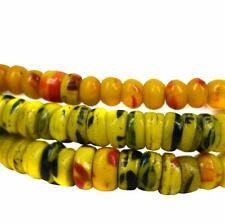 Kancamba Molded Trade Beads Yellow Orange and Blue African