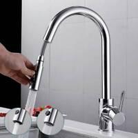 360° Küchenarmatur Wasserhahn Ausziehbar Einhandmischer Mischbatterie Brause