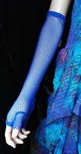 Dark Star Gothic Punk Emo Cyber Long Fishnet Fingerless Gloves Blue or Purple